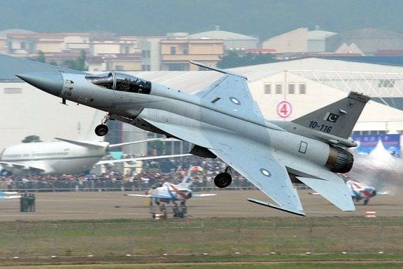 Pakistan airforce FC-1 Xiao Long AKA JF-17 Thunder.